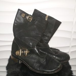 Vince Camuto Distressed Leather Biker Boot